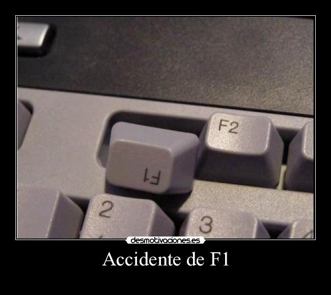 Accidente de F1 -