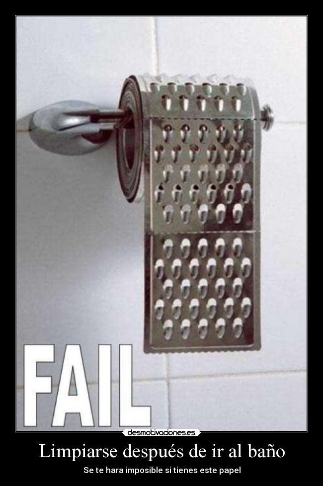 Limpiarse despu s de ir al ba o desmotivaciones - Te para ir al bano ...
