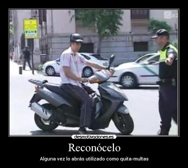 carteles moto quita multas casco calimero policia local guardia civil desmotivaciones