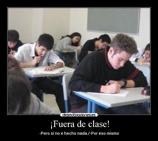 fuera clase: