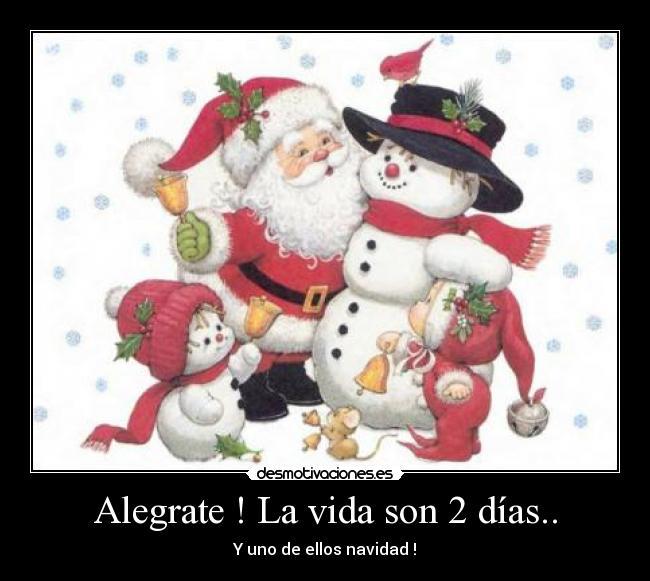 carteles vida navidad vida dias alegrate