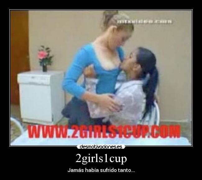 One girl 2 cups
