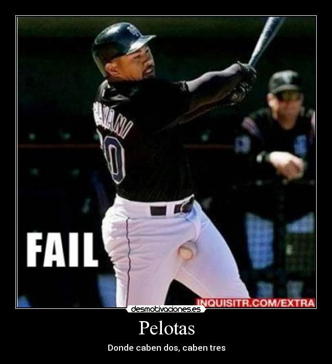 carteles baseball fail pelotas desmotivaciones