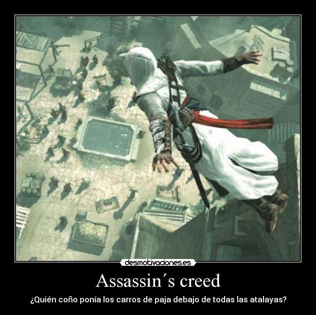 carteles assassins creed carros paja desmotivaciones