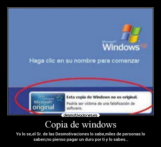 carteles windows desmotivaciones