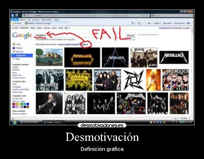 carteles slipknot fail metallica posser desmotivaciones