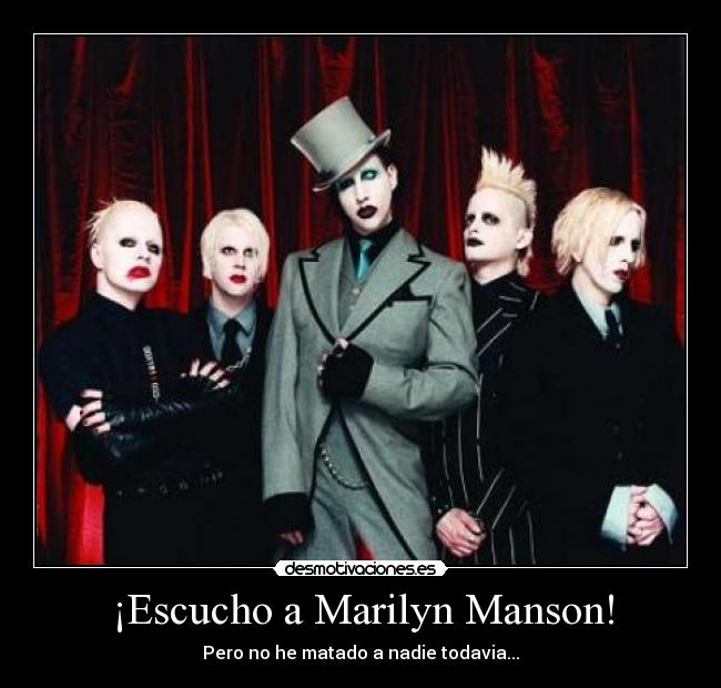 carteles marilyn manson and the spooky kids desmotivaciones