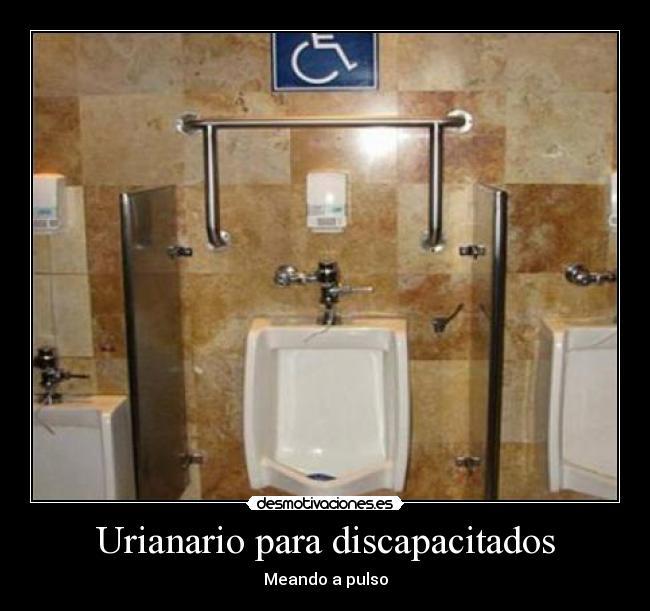 Baño Discapacitados Barras:carteles urinario discapacitado barra desmotivaciones