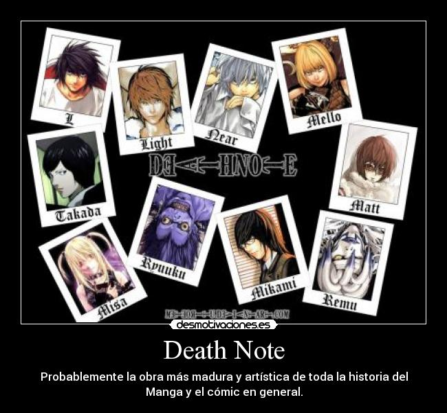 Death Note Desmotivaciones