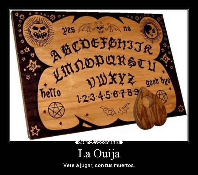 jugar a la ouija: