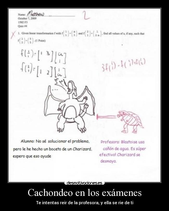 Cachondeo en los exámenes