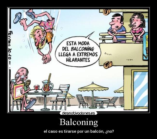 carteles balconing desmotivaciones