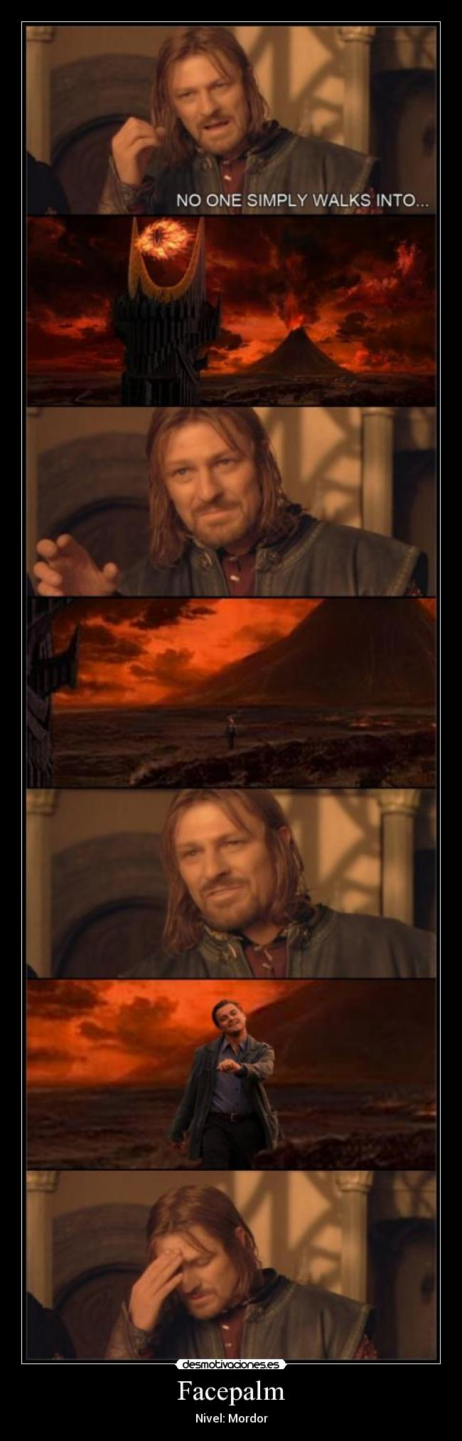 carteles one simply walks into mordor desmotivaciones