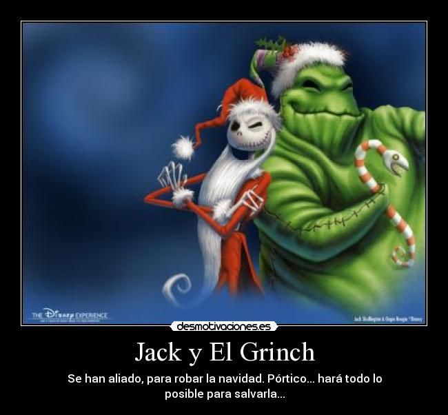 Jack y el grinch desmotivaciones for Portico vigo catalogo