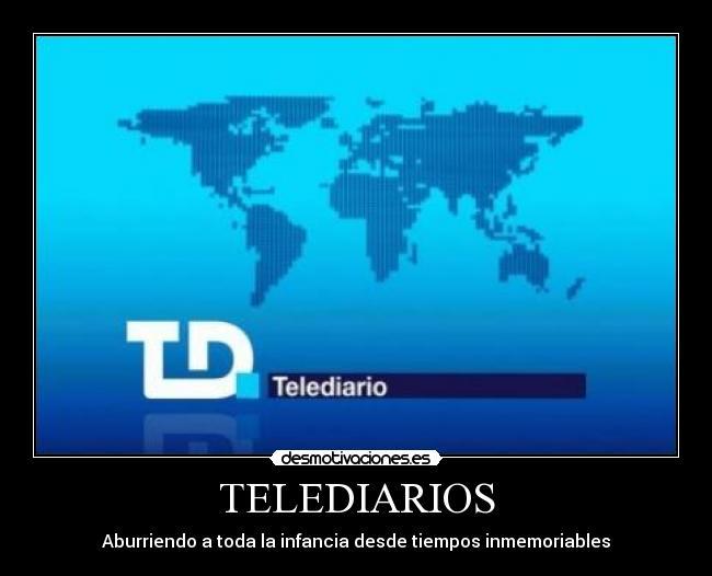 telediario 1 ¿Cómo es posible que en la era de la información el telediario de la noche sea igual que el de mediodía?