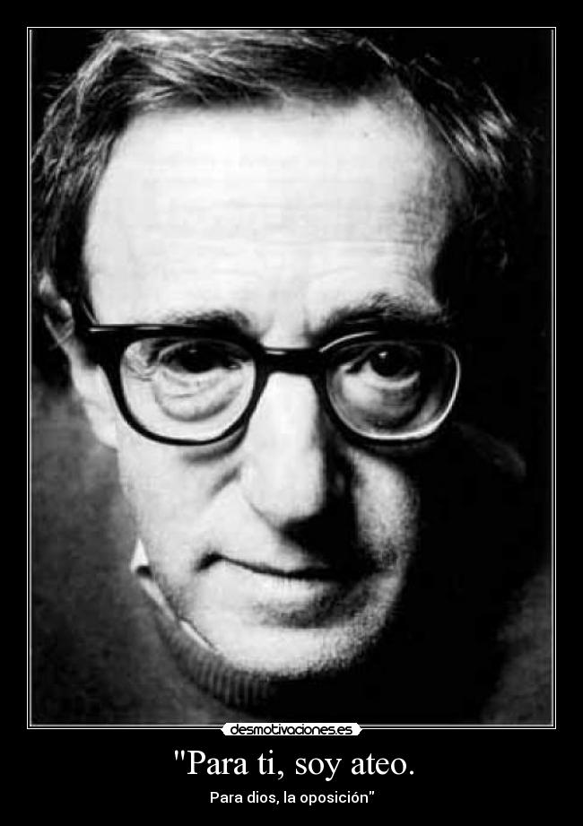 carteles woody allen zorra implakable desmotivaciones