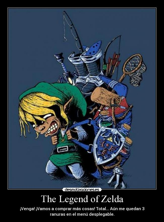 carteles the legend zelda desmotivaciones