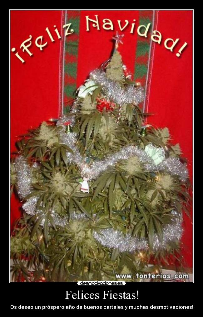 carteles marihuana navidad