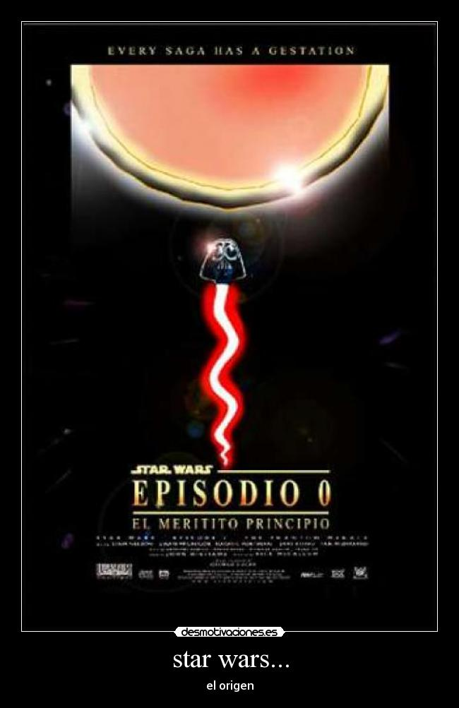 star wars... - el origen