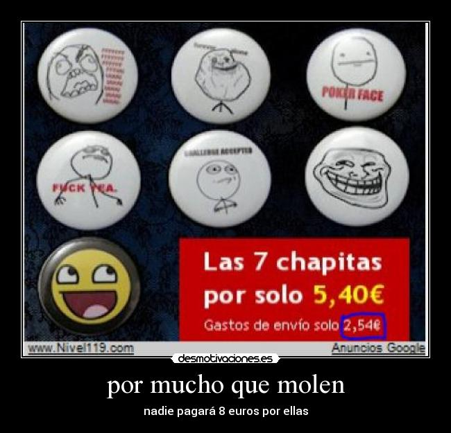 carteles vodafone chapas awesome fuck yea challenge accepted trollface forever alone poker face fffuu desmotivaciones