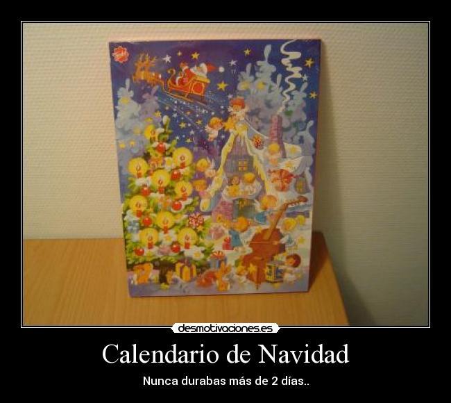 carteles navidad calendario navidad chocolate
