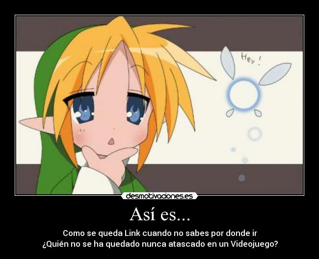 carteles the legend zelda link konata lucky star desmotivaciones