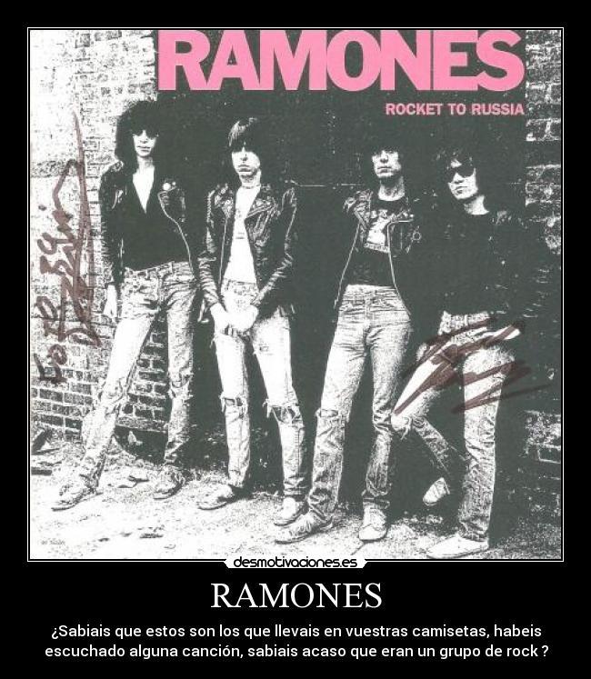La mejor cancion de Ramones? + Desmotivaciones
