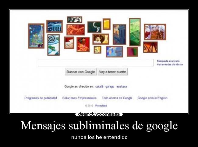 Mensajes Subliminales De Google