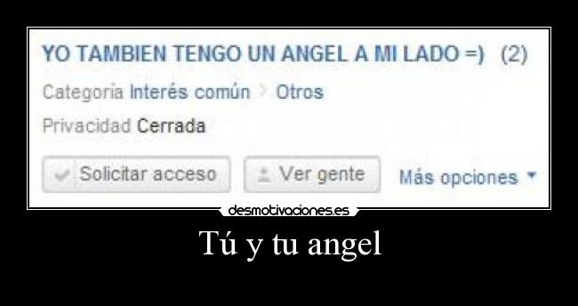 Tú y tu angel -