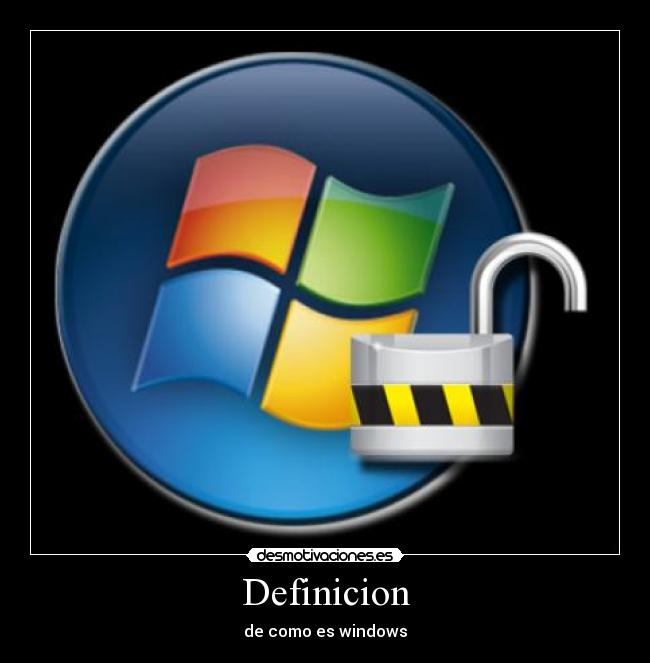 Definicion - de como es windows