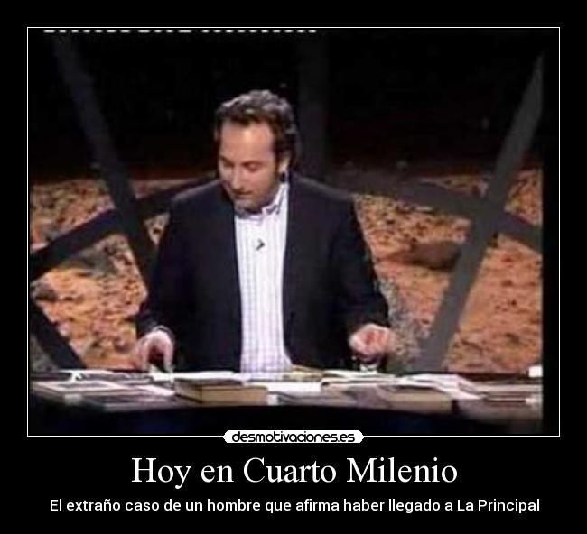 Cuarto milenio for Horario de cuarto milenio