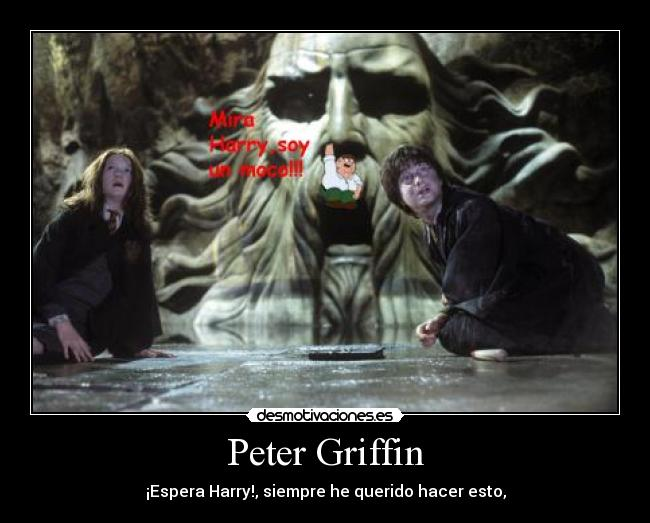 carteles peter griffin harry potter moco desmotivaciones