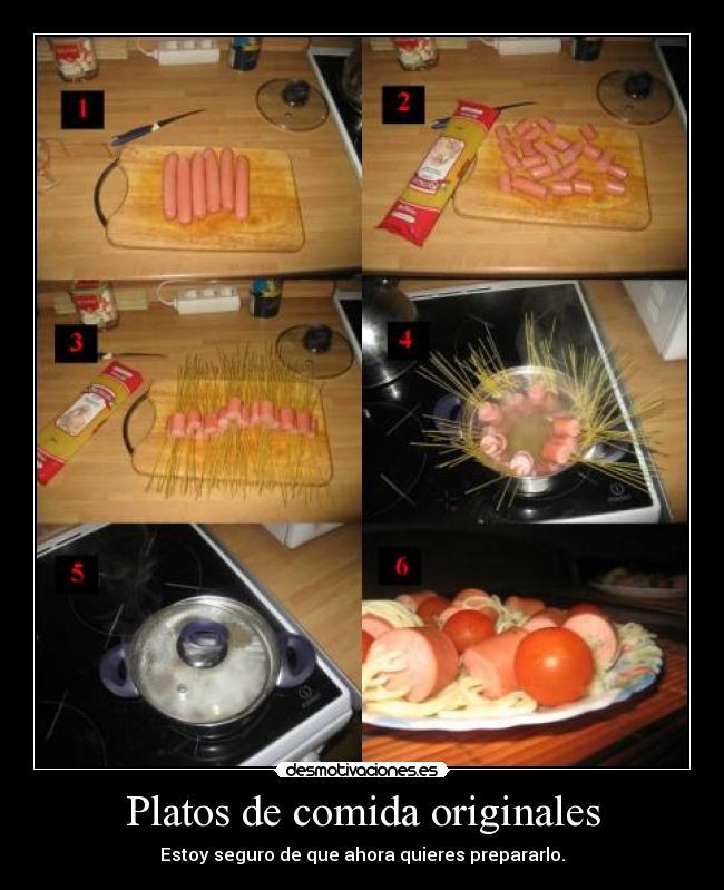 Platos de comida originales desmotivaciones - Comodas originales ...