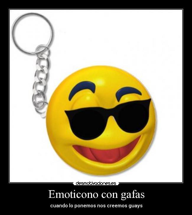 Emoticono con gafas desmotivaciones - Emoticono gafas de sol ...