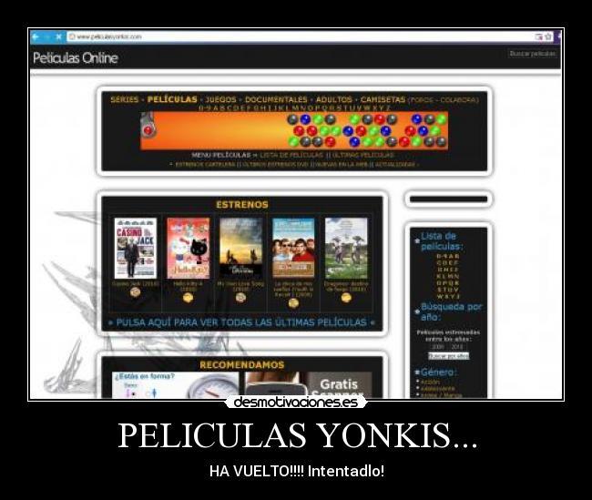 descargar peliculas yonkis