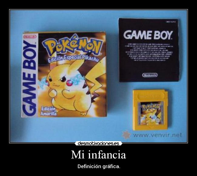 carteles infancia pokemon amarillo gameboy advance gba desmotivaciones