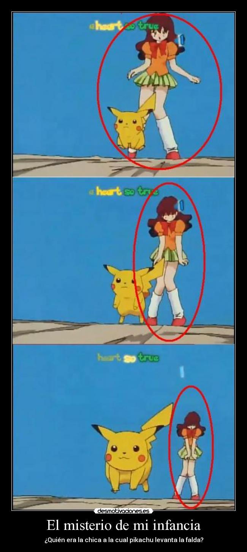 carteles infancia pikachu pene pokemon nina mona moe kawaii desmotivaciones