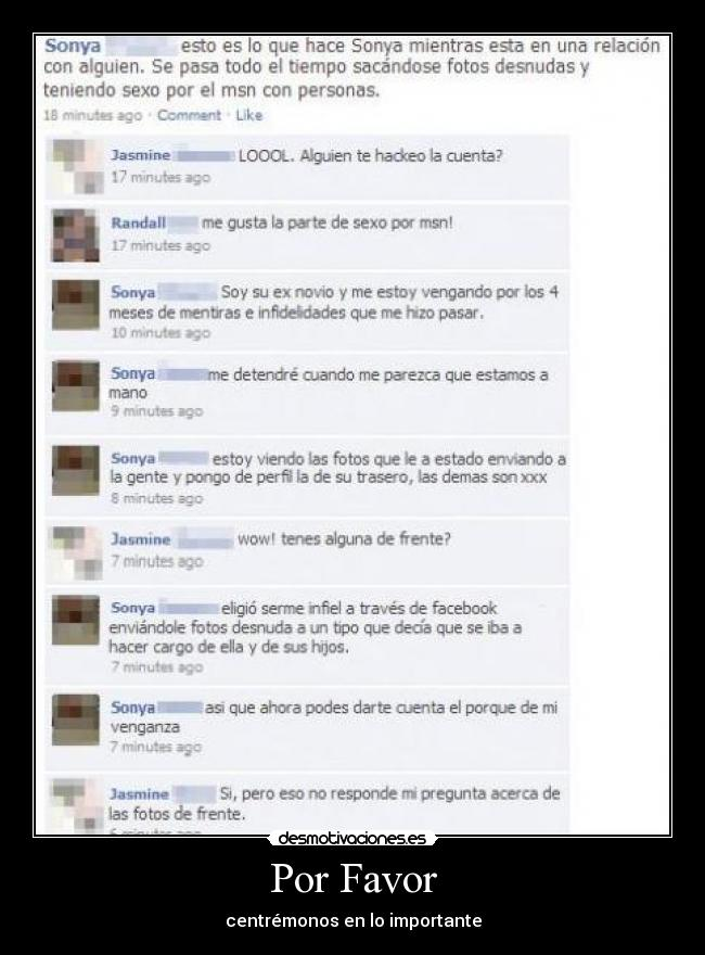 carteles sexo facebook exnovio fotos antarticx desmotivaciones