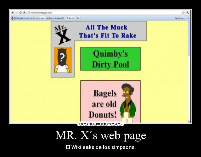 carteles simpsons wikileaks desmotivaciones