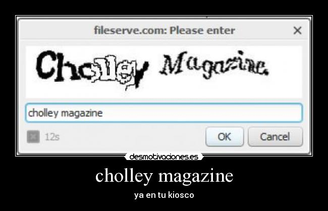 cholley magazine - ya en tu kiosco