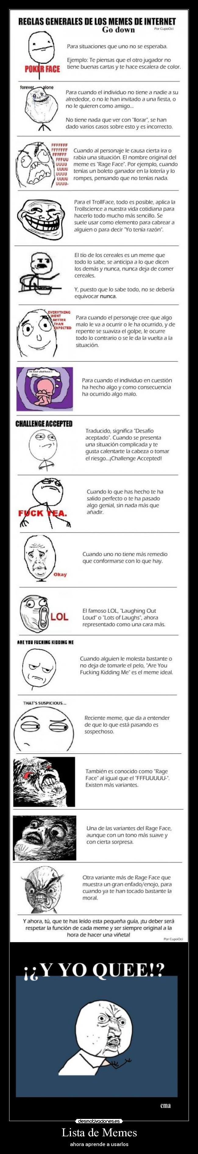 carteles memes lista memes desmotivaciones