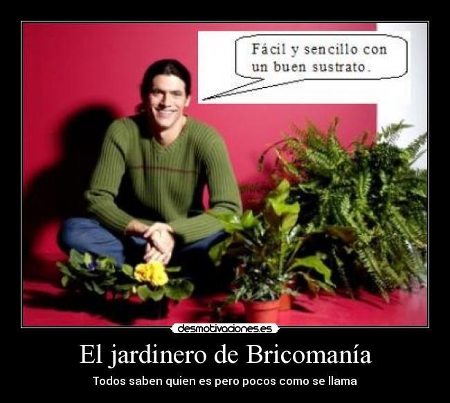 El jardinero de bricoman a desmotivaciones - El jardinero en casa ...