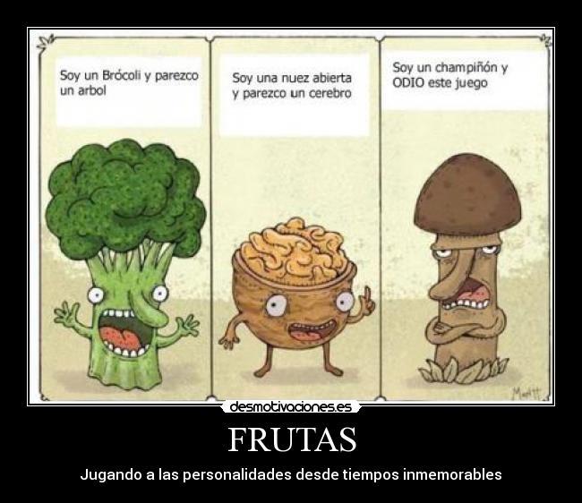 carteles frutas desmotivaciones