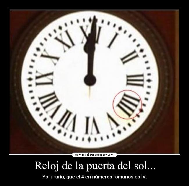 Reloj de la puerta del sol desmotivaciones for Reloj de puerta del sol