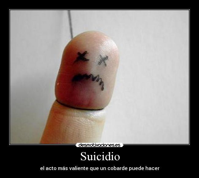 suicidio demotivator