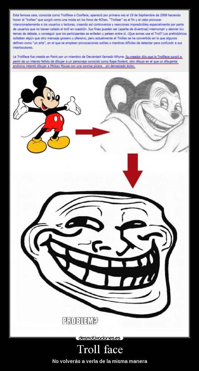 mickey mouse trollface
