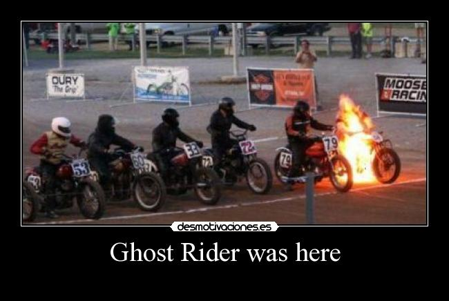 Ghost Rider was here -