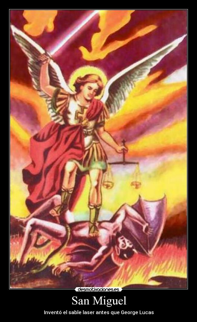 carteles arcangel demonio matar george lucas sable laser star wars desmotivaciones