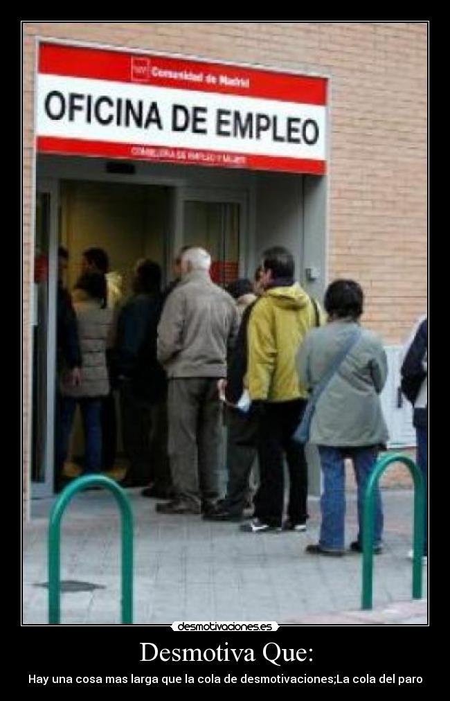 Im genes y carteles de empleo pag 10 desmotivaciones for Oficina de empleo inem
