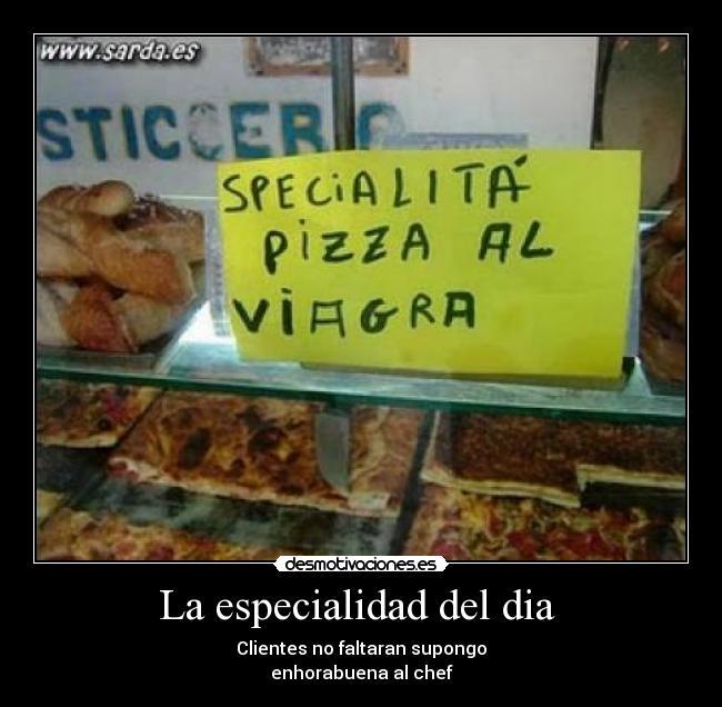 carteles pizza con viagra desmotivaciones